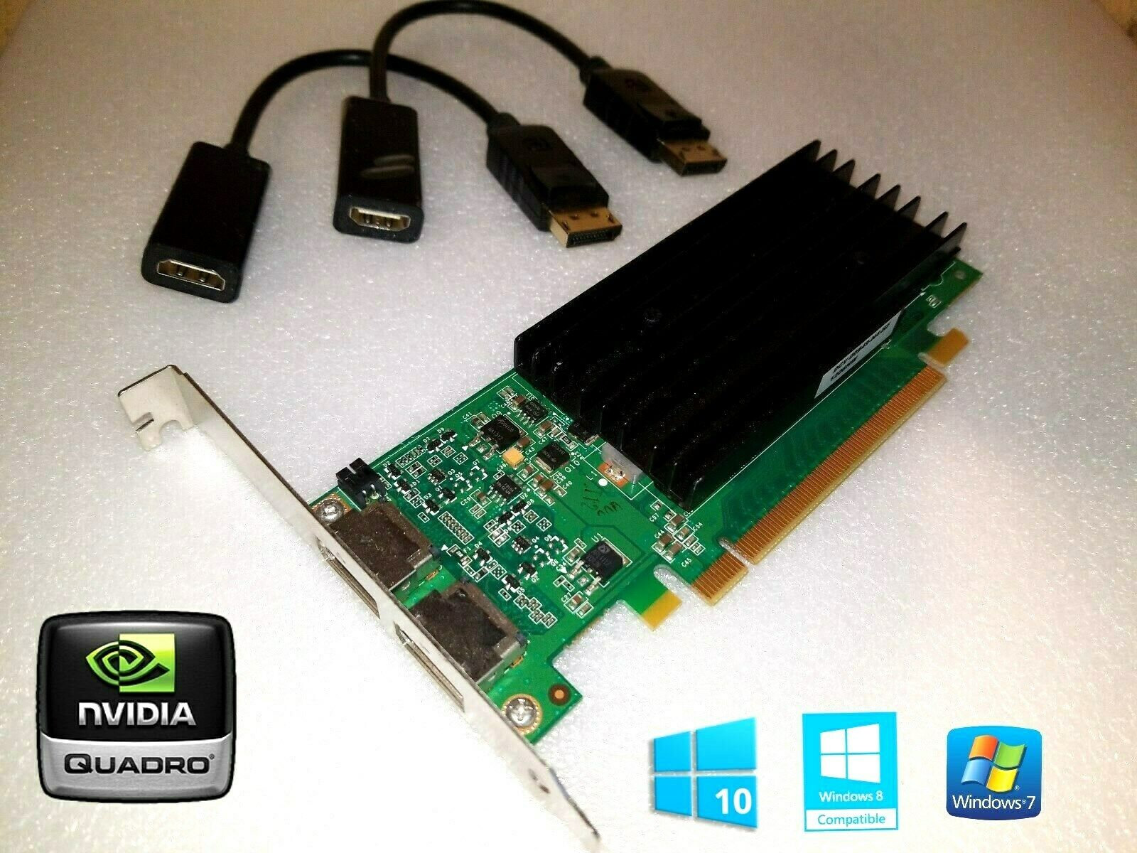 HP Compaq 8200 8300 Elite NVIDIA Tower Dual HDMI Video Card w/ 2 HDMI Adapters