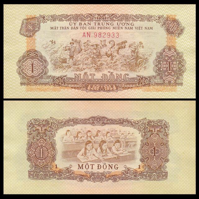 South Vietnam Viet Nam 1 Dong Banknote, ND(1963), P-R4, AU-UNC, Asia Paper Money