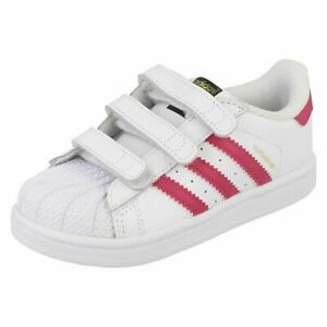 Details about Adidas Infant Girls Casual Trainers - Superstar CFI