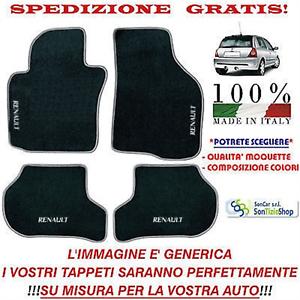 Vari Colori e Qualità! Tappetini Auto Personalizzabili Tappeti Renault Clio 2