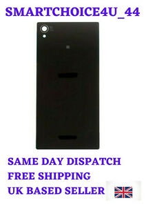 For Sony Xperia Z1 Battery Back Cover with Camera Lens Replacement Part--Black