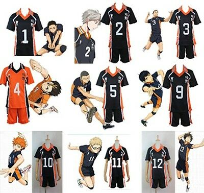 Haikyuu!! Karasuno High School Uniform Jersey Cosplay Costume