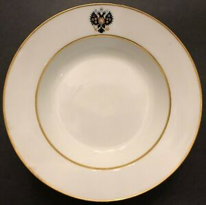 Nikolas-ll-Imperial-Russian-Porcelain-1st-Dish-Plate-from-Coronation-Service