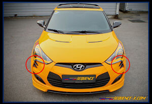 Front-Bumper-Point-Molding-Devil-039-s-Claw-For-2011-2017-Hyundai-Veloster