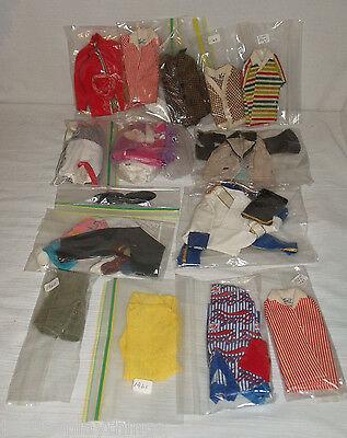 Costruttivo Mattel Ken Bambola Custodia 1962+vintage 1960s Abbigliamento Lotto Di Eccellente Nell'Effetto Cuscino