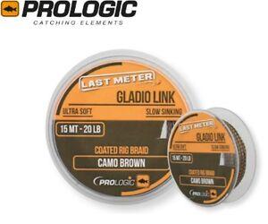 ProLogic-GLADIO-LINK-Lento-Affondamento-Carp-Linea-15-M-20-40-LB-Camo-ultimo-metro