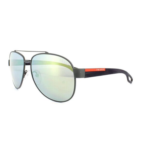 792f4fe76a92d PRADA Linea ROSSA Aviator Sunglasses SPS 55q C. Tig4j2 Matte Gray Mirrored  Lens
