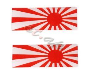 2X-Japan-Flag-Red-Jdm-Bumper-Trunk-Fender-Emblem-Decal-Sticker-Badge-3D-Logo