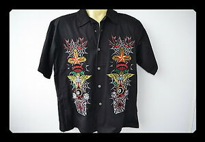 Workershirt-Dragonfly-Gestickt-Embroidery-Old-School-Tattoo-Vintage-Rockabilly