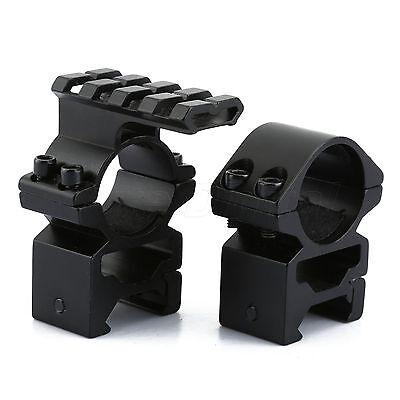 """2pcs 1"""" 25.4mm Rings 20mm Picatinny Rail Same Base Extended Scope Mount Weaver"""