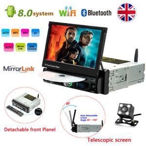Android-8-0-Car-Radio-Stereo-DVD-GPS-NAVI-7-034-Single-1-DIN-Bluetooth-MP5-amp-Camera