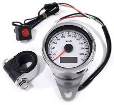 LCD LED Mini Tachimetro elettronico bianco 60mm per HD Harley Davidson 95-15