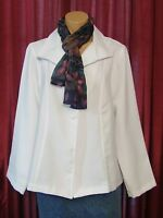 4438 Pretty W/tags $42 'apparenza' Jacket With Scarf Size Medium