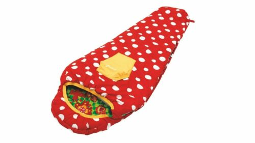 Outwell Butterfly Girls Sleeping Bag Carrying Bag Pocket Red Thermo Warm Sale