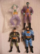 MARVEL DC comics super heros figurine lot 4 PVC Batman Joker Robin Applause 1989