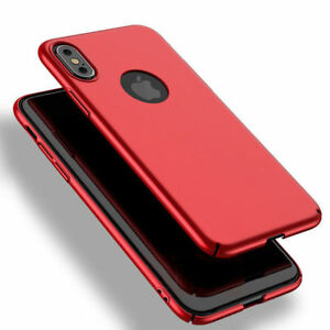 iPhone-X-XS-pc-hard-back-case-Rot