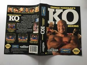 Original Sega Genesis Mega Drive Usa Box/case Cover Geore Foremans Ko Boxing-afficher Le Titre D'origine BéNéFique Au Sperme