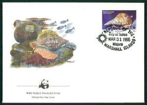 Charitable Îles Marshall Bijoux-fdc 1986 Wwf Faune Nuschel Clam Shell Triton Em23-afficher Le Titre D'origine