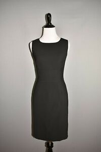 ANN-TAYLOR-NEW-128-Black-Virgin-Wool-Sleeveless-Sheath-Dress-Size-4P