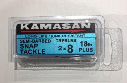 Free P/&P Kamasan Premium Snap Tackle 2 X Size 8 Trebles Semi-Barbed