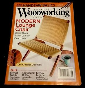 Details About Popular Woodworking Magazine Modern Lounge Chair June 2017