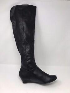 Bongo Women/'s Audrina Knee High Boot Black #694-6816 175GHiJ az New