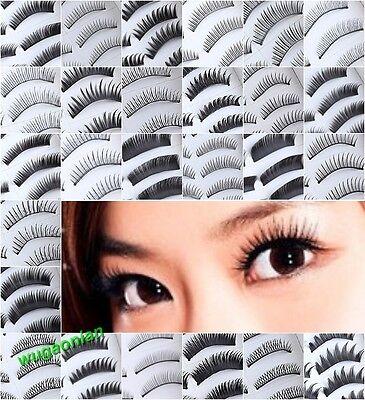 10/20 Pairs20 Models Of Choice In Natural or Thick Fake False Eyelashes Eye Lash