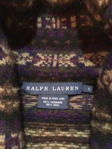 Ralph Lauren 65% Cashmere Kashmir Shawl Collar Fai