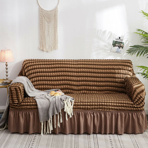1//2//3//4 Seater Bubble Lattice Elastic Sofa Covers Polyester Slipcover Protector