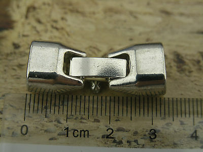 5 Sets 10.8x6.7mm Antique Silver Hook/Snap Clasp For Licorice Leather Bracelet