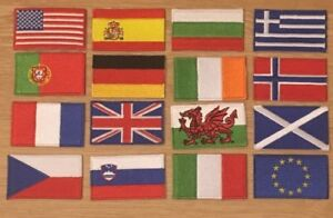 NATIONAL COUNTRY EMBROIDERED FLAG SEW/IRON ON PATCH CHOOSE YOUR COUNTRY MULTI OP