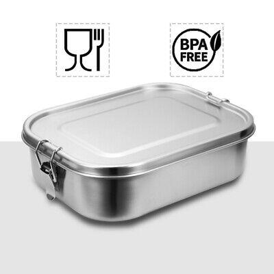 1400ml Brotdose mit Fächern Edelstahl Auslaufsicher Vesperdose Lunchbox kantine