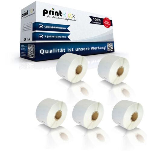 Color Print Serie 5x Adress Etiketten Rollen für Dymo LABELWRITER 450 Duo 1135