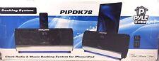 Pyle - PIPDK78 - FM Receiver Radio IPod/iPad/iPhone Docking Station Alarm Clock