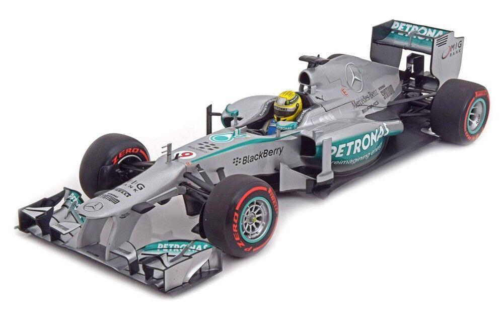 1:18 Mercedes W04 Rosberg Monaco 2013 1/18 • Minichamps 110130109