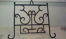 BLACK metal decorativi visti LIBRO CUCINA STAND/CAVALLETTO ottime condizioni