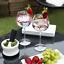thumbnail 3 - Iridescent Gin Glasses Set of 2 Cocktail Glasses Barware Sets M&W