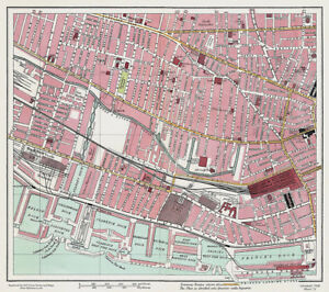 Great Howard Street Liverpool 1928 Series Sheet 13 Large Map