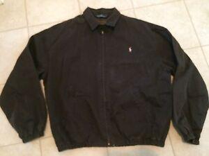 96d1dd15c Details about Vintage Ralph Lauren POLO Classic Cotton Flannel Lined Jacket  Black XL