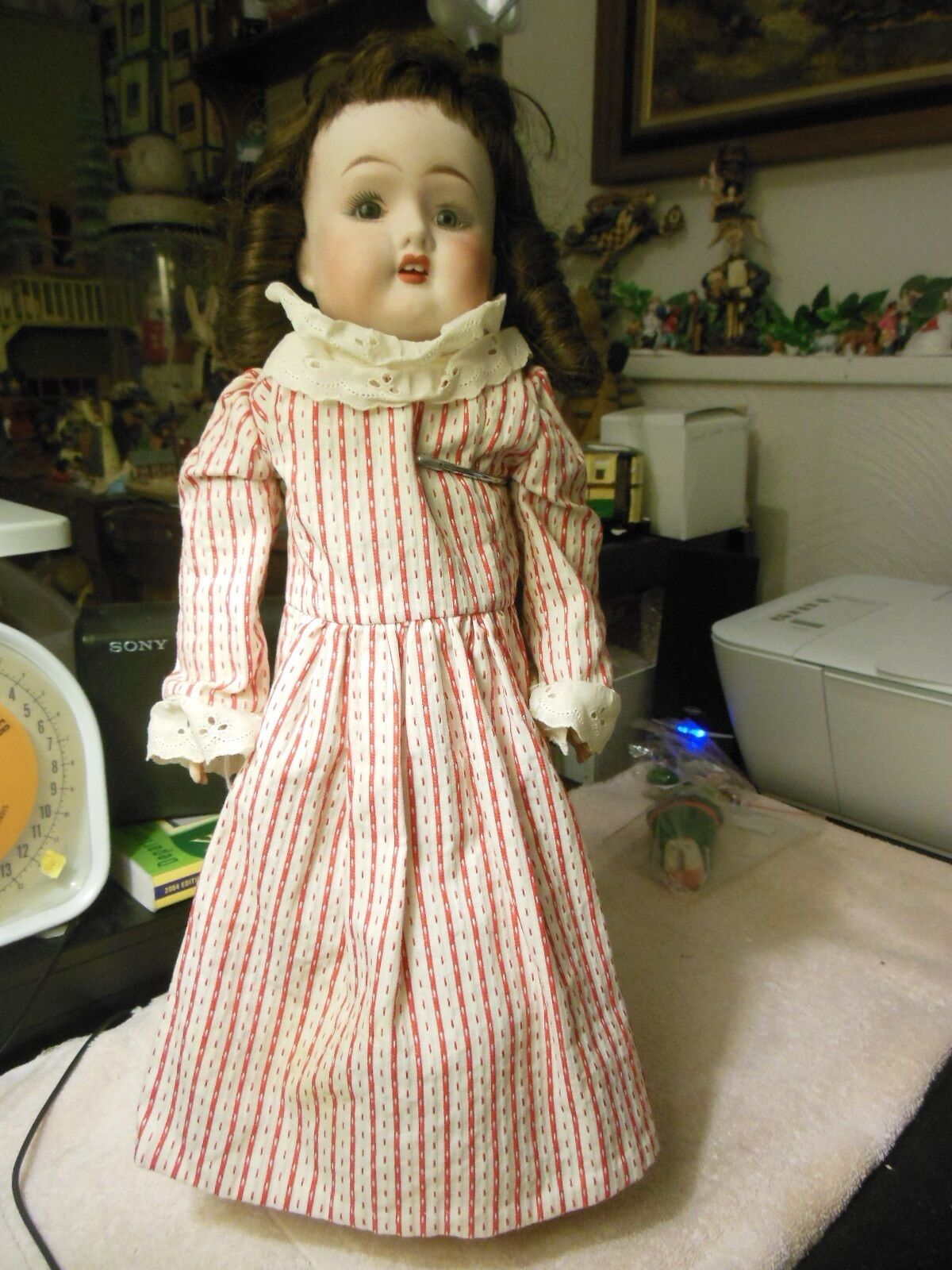 18  Fulper  doll  kid body & bisque arms not sure correct