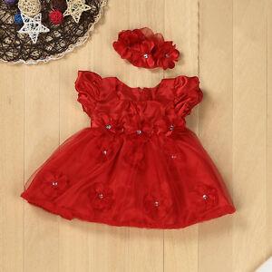 2-Piezas-Juego-de-Bebe-Recien-Nacido-Ninas-Ninos-Vestido-Princesa-Encaje