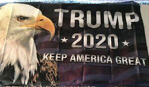 Keep America great eagle trunp flag 3 x5 feet