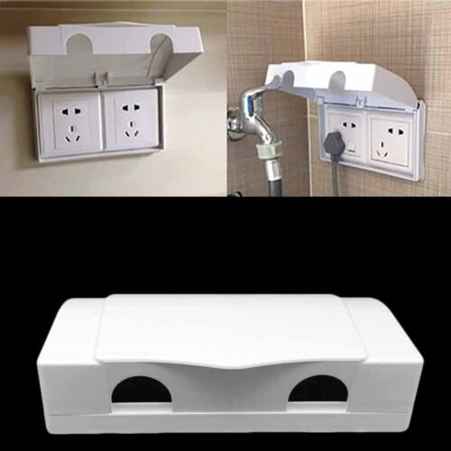 Electric Plug Cover White Double Socket Protector Baby Child Safety Box  #GOU