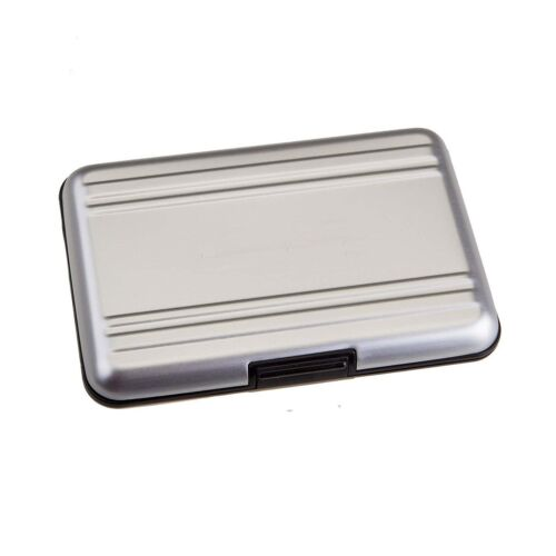 Brushed Aluminium Memory Card Waterproof Case for 8x SD SDXC Cards for SDHC