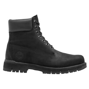 0cad80ab6fa Timberland Radford 6-Inch Waterproof Black Mens Nubuck Lace-up Ankle ...