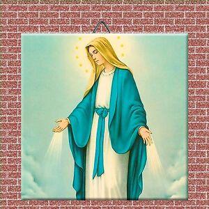 Religious Decorative Ceramic Tile Inches Virgen Maria EBay - 4 inch decorative ceramic tile