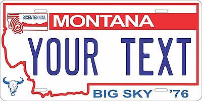 Montana 1991-9 License Plate Personalized Custom Auto Bike Motorcycle Moped tag