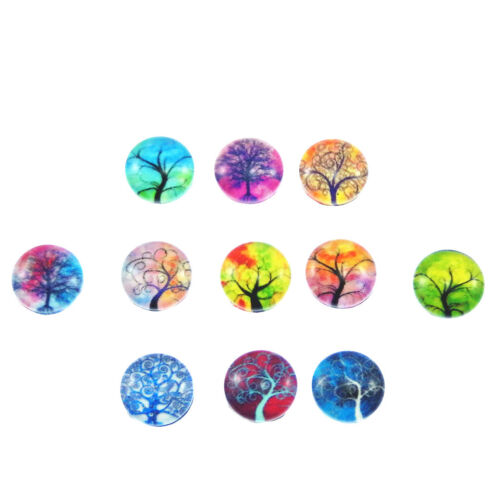 Multicolore mixte Life Tree Pattern Glass Cameo Flatback Bijoux Making cabochons