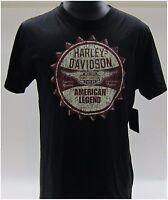 Harley-davidson Men's 3-ex-large Black T-shirt Made In The Usa Plain Back