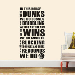 "wall stickers new ""we do"" family rules home Decal Removable Art Vinyl Decor Kid"